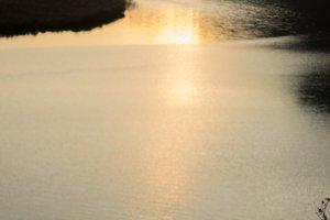 spring lake sunset