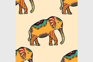 stylized Indian Elephant.