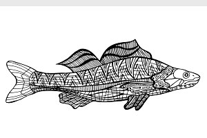 style fish vector