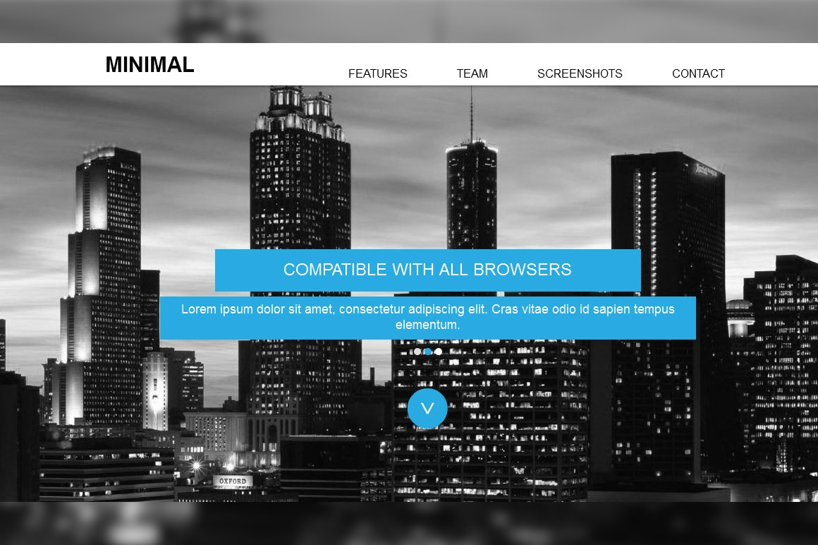 Minimal Responsive Muse Template ~ Website Templates ~ Creative Market