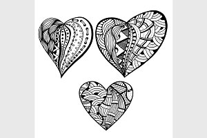 Vector style hearts