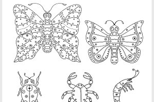 Vector insects illustration.