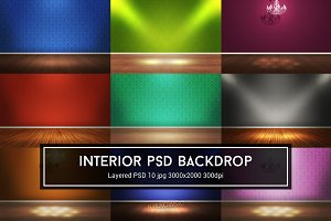 Interior Room PSD Backdrop
