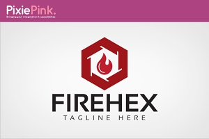 Fire Hex Logo Template