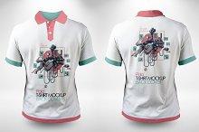 Polo T-shirt Back & Front Mock-ups