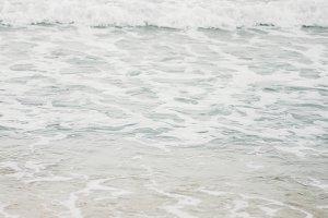 pastel blue color of sea