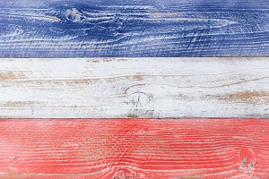 National colors of USA on wood