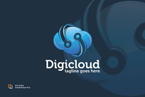 Digicloud / Cloud - Logo Template