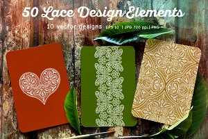 50 Lace Elements and Patterns
