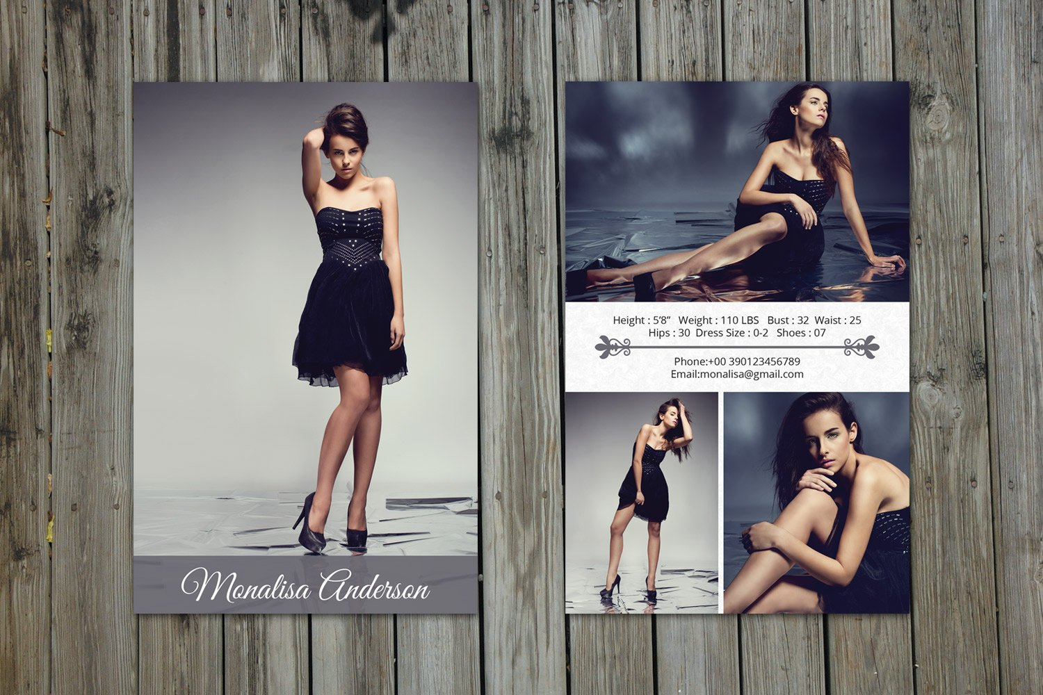 Modeling Comp Card TemplateV Flyer Templates Creative Market - Model comp card template