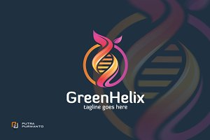Green Helix / DNA - Logo Template