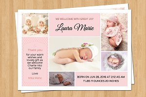 Birth Announcement Template-V06