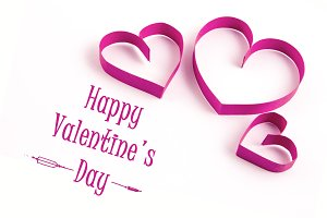 Happy Valentines Day in Pink