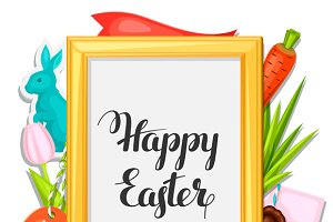 Happy Easter photo frames.