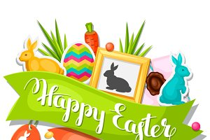 Happy Easter greeting cards