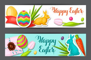 Happy Easter banners.