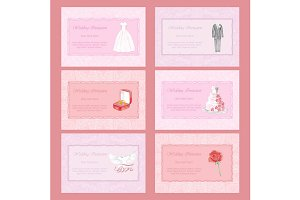 6 Wedding Invitation Cards