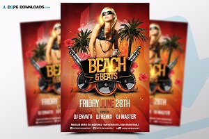 Beach & Beats Flyer Template