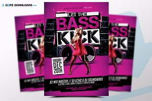 Let The Bass Kick Flyer
