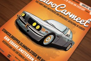 Retro Car Meeting Poster / Flyer III
