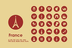 France simple icons
