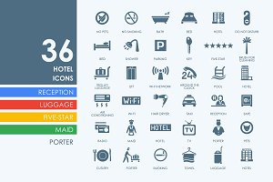 36 Hotel icons
