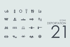 21 Deportation icons