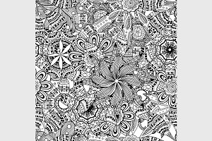 doodle background pattern