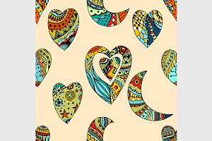 Tangle Patterns hearts and crescent