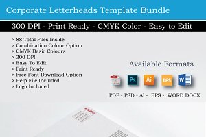 88 Clean Business Cover Letterheads