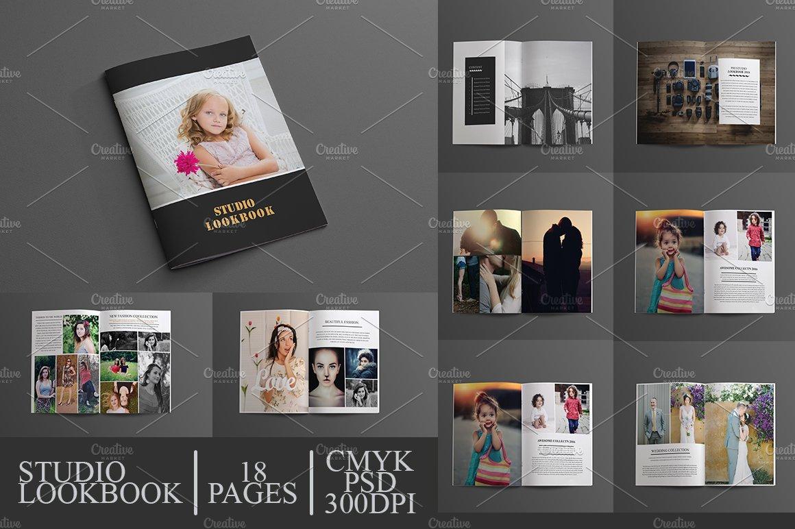 studio lookbook brochure templates creative market