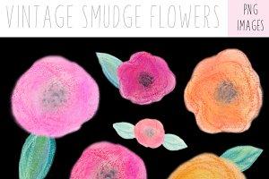 Vintage Flowers, Spring Clip Art