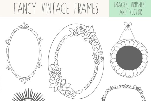 Fancy Vintage Frames ~ Illustrations ~ Creative Market