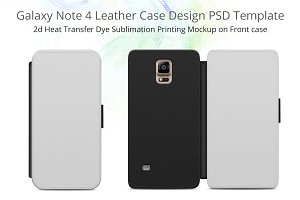 Galaxy Note 4 Leather Flip Case Mock