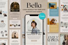 Bella - Canva Newsletter Templates by  in Email