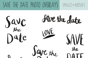 Save The Date Calligraphy Overlays