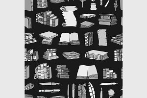 Hand Drawn Illustrations of Books
