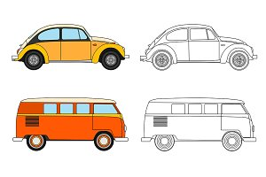 Set of cars