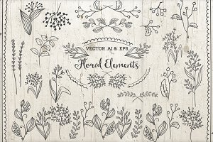Vector Floral Elements Decorations