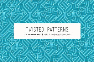 Seamless twisted patterns