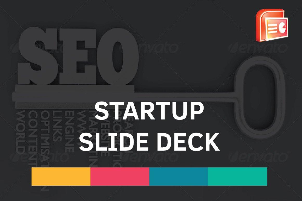 Startup Slide Deck Presentation Templates Creative Market - Startup slide deck template