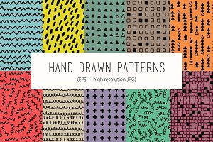 Color hand drawn patterns
