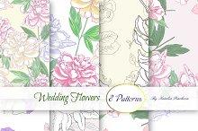 Wedding Flowers.Digital Paper