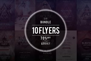 10 PSD Flyers - Bundle