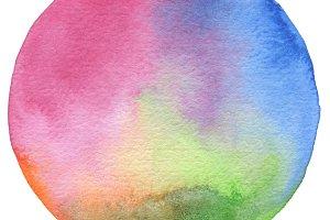 Circle watercolor