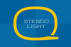 Stendo Extended Light - Wide Font