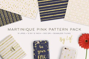 Gold and Navy Blue Patterns Pack