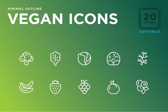 Minimal Vegan icon set
