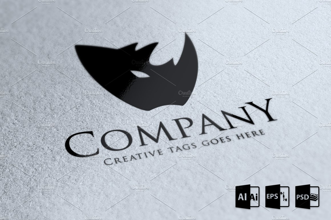 Rhino company logo template logo templates creative market wajeb Gallery