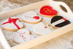 Valentin - wedding cookies.